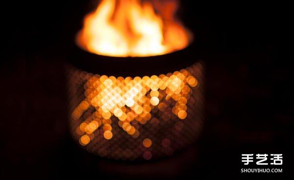 老外喜欢户外活动,尤其只要有一团炉火,他们甚至可以在冬天寒冷的夜晚坐在院子里喝冰啤酒,不过市售的户外火炉价格不便宜,于是有人把脑筋动到洗衣机,用少少的十元美金收购废弃洗衣机内槽加工做成火炉。先把镀在外面的漆磨掉,再焊上四根不锈钢支架,作业过程有多MAN就不提了,完成品看起来更是充满浓浓的工业风,低调又冷酷,让人很想每晚用它生炉火,拎瓶啤酒坐在旁边赏花赏月赏秋香啊~~
