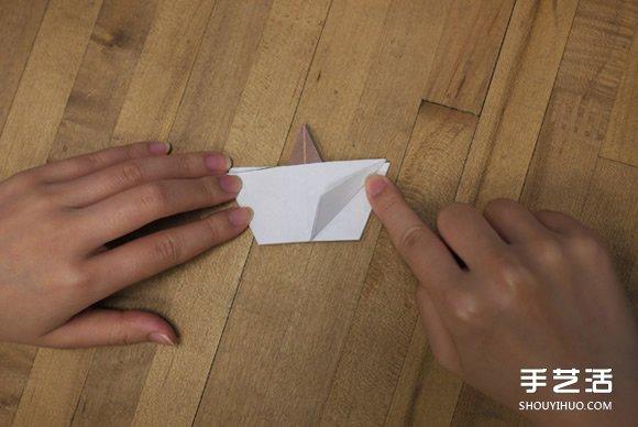 太阳花花的折法图解 手工折纸太阳花的过程