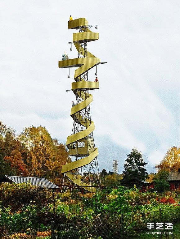 废弃电塔的第二春 统统改造成公园眺高观景台