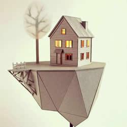 厚纸板DIY制作小屋造型灯罩 栩栩如生引人入胜