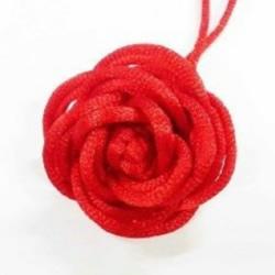 双线结玫瑰花的编法 手工编织双线结玫瑰图解