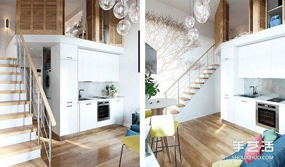 莫斯科楼中楼小户型住宅装修