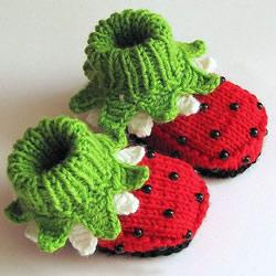 超Q毛线针织婴儿鞋作品 手工宝宝毛线鞋图片