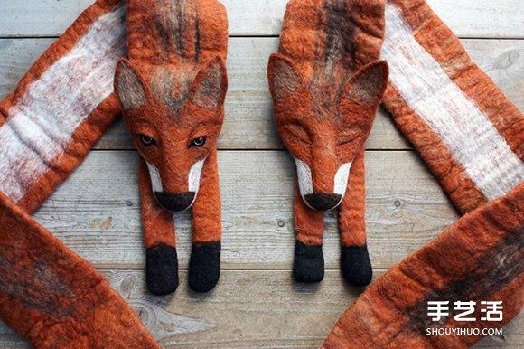 好玩的天鹅造型围巾 百分百羊毛毡制成的饰品 -  www.shouyihuo.com