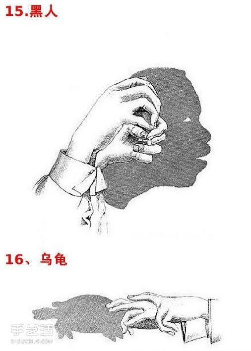 简单手影图片大全 幼儿手影戏图片教学 -  www.shouyihuo.com