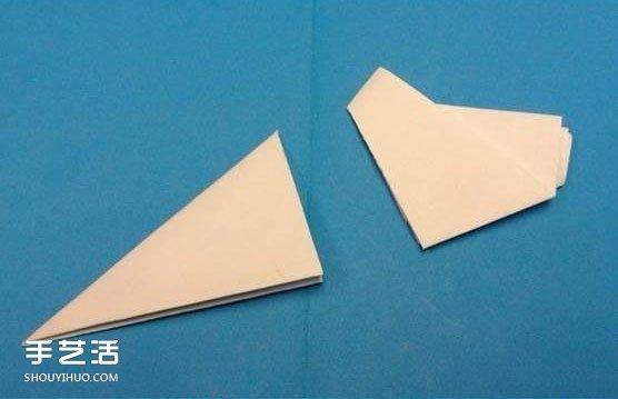 剪纸雪花步骤图及折法