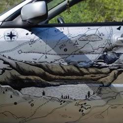 撞凹的车门怎么修复? 可以变成美丽手绘地图