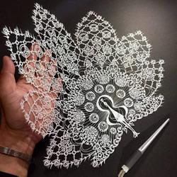 纸雕艺术家Mr.Riu作品 美翻了的手工纸艺图