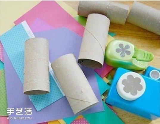 幼儿园蝴蝶手工制作 简单纸筒蝴蝶的做法图片
