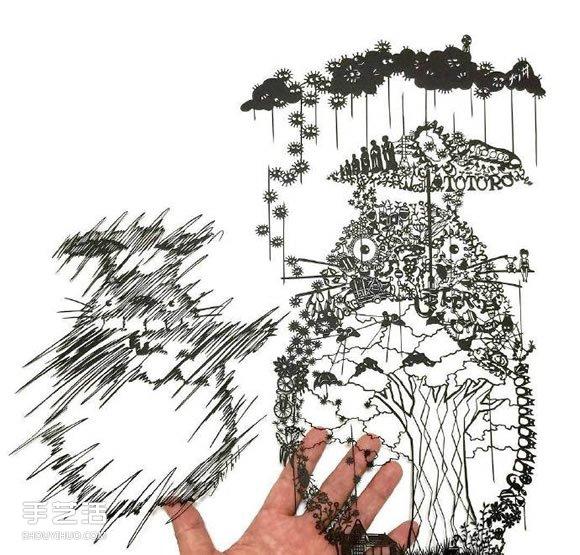 纸雕艺术家Mr.Riu作品 美翻了的手工纸艺图片 -  www.shouyihuo.com
