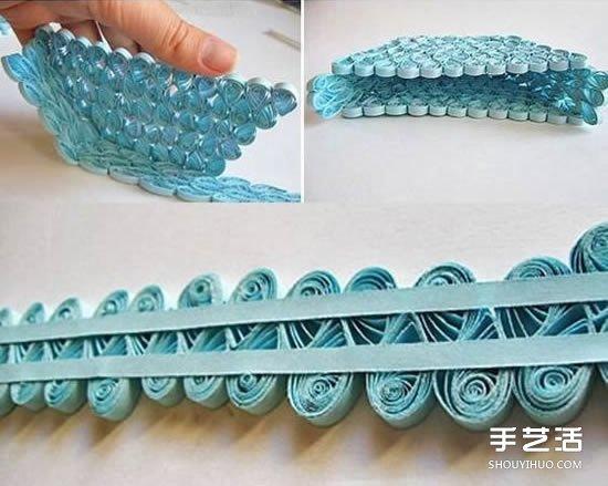 衍纸包包制作方法 手工衍纸手提包的做法图解