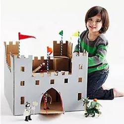 废纸箱制作玩具图片 幼儿手工纸箱玩具作品