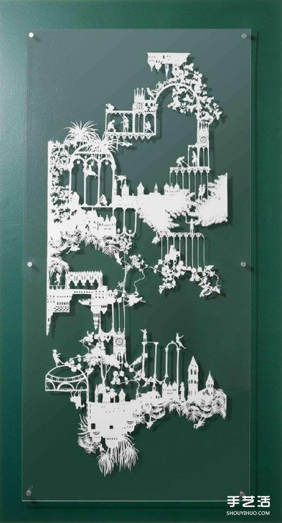 前后两层的平面纸雕作品 DIY出更生动的图案 -  www.shouyihuo.com