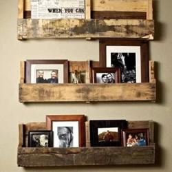 生活旧物改造书架图片 废旧物品DIY制作书架