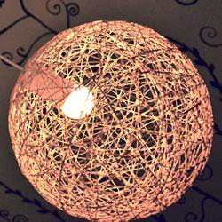 自制气球毛线灯罩教程 DIY气球毛线灯做法