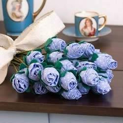 不织布玫瑰花束制作 布艺玫瑰的做法步骤图解