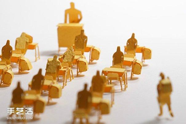 彩色卡纸雕琢成的生活场景 大师级纸模型作品 -  www.shouyihuo.com