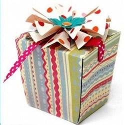 时尚方形包装盒展开图 正方形纸盒的折法图解