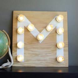 自制M形装饰灯具的方法 DIY灯饰制作图解教程