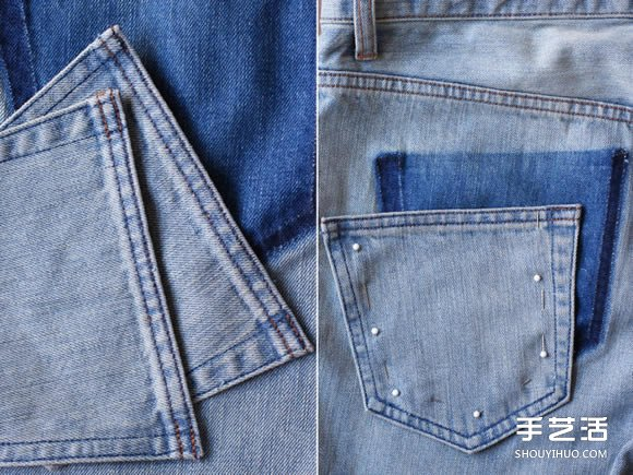 旧牛仔裤创意口袋DIY 拥有最流行的掉落口袋 -  www.shouyihuo.com