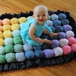 好看的宝宝地毯DIY 手工布艺制作婴儿地毯