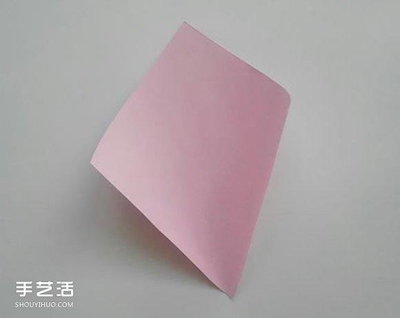 幼儿花朵折纸图解教程 简单手工纸花的折法图片