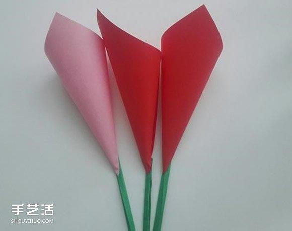 幼儿花朵折纸图解教程