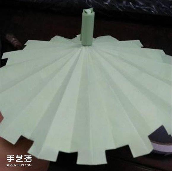 立体小雨伞的折法图解