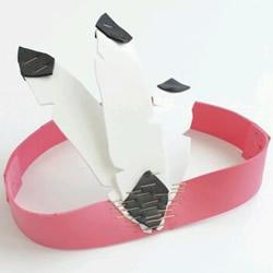 儿童头饰DIY教程图片 海绵纸帽子做法大全