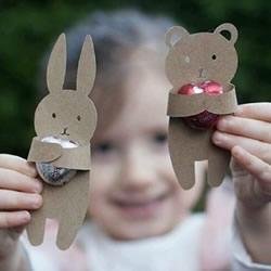 幼儿剪纸动物糖果包装 硬纸片糖果包装DIY制作