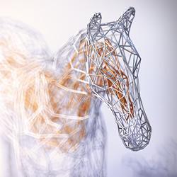"""""""金包银""""铁丝雕塑 缠绕出动物的优雅灵魂"""