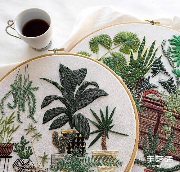小清新手工刺绣作品欣赏 感受一针一线的美好 -  www.shouyihuo.com