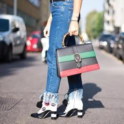 牛仔裤潮流风向:5个牛仔宽裤的造型搭配