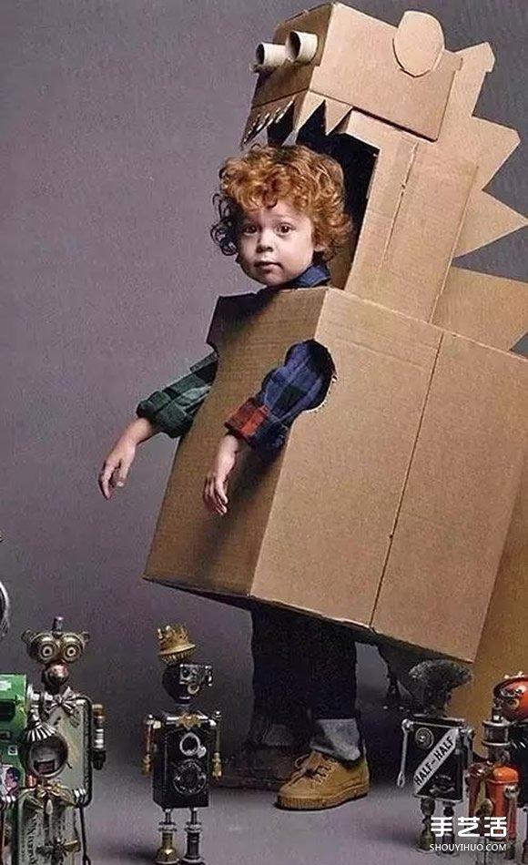 兒童紙箱手工製作圖片 好玩的幼兒瓦楞紙DIY