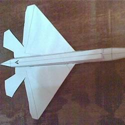 F-22战斗机折纸图解 手工制作F22战机模型教程