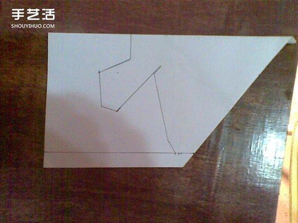 F-22战斗机折纸图解 手工制作F22战机模型教程 -  www.shouyihuo.com