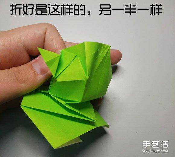 立体小鸭子折纸步骤图 纸鸭子的折法教程图解(2)