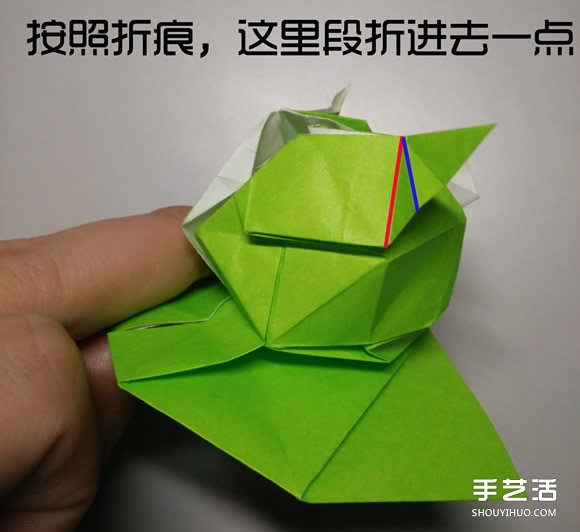 立体小鸭子折纸步骤图 纸鸭子的折法教程图解(3)
