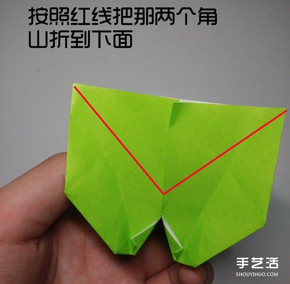 立体小鸭子折纸步骤图 纸鸭子的折法教程图解(4)