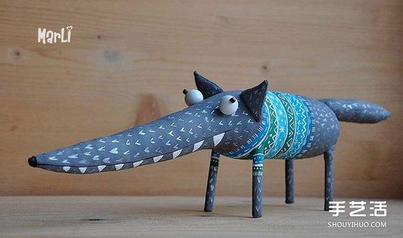 搞怪的動物布偶圖片 誇張造型布藝玩偶作品