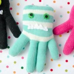 旧手套改造章鱼布偶 手工布艺章鱼的做法教程