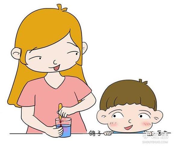 超有爱的亲子游戏 适合幼儿会变的颜色小实验 -  www.shouyihuo.com