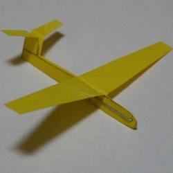 滑翔机折法图解教程 简易纸滑翔机制作图纸