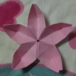 五个花瓣樱花的折法 纸樱花怎么折图解教程