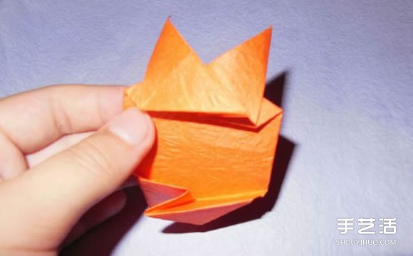 手工纸帆船的折法图解 折纸帆船的方法步骤图(3)