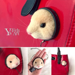 羊毛毡黄金鼠磁铁胸针 耍萌同时不用伤包包