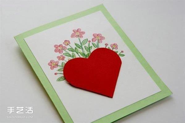 情人節紅心賀卡製作 感恩的心立體賀卡DIY