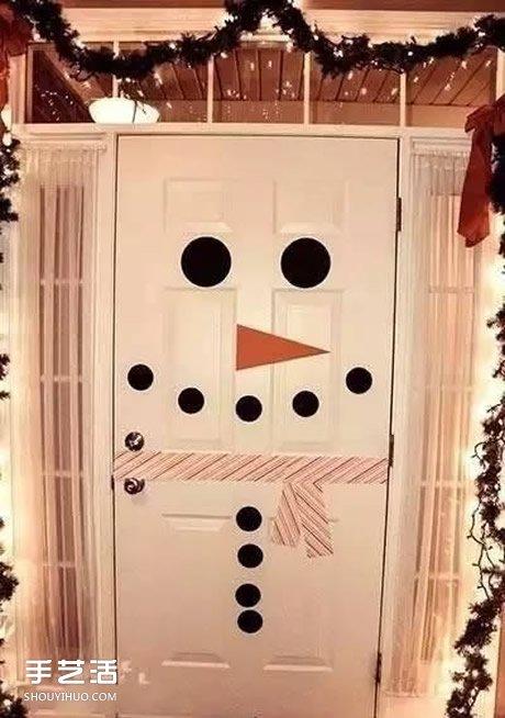 幼儿园 教室布置  圣诞节幼儿园环境创设之门和椅子