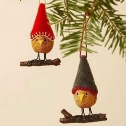圣诞节主题小挂件DIY 坚果果壳制作圣诞挂饰