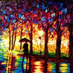 盲人艺术家靠触摸和纹理创造动人的彩色画作